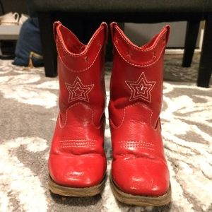 Gymboree Red cowgirl boots sz 7